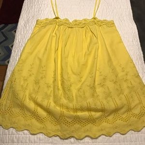 Yellow gap embroidered top tank (s)